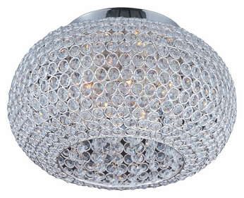 Maxim 39875BCPS Glimmer Plated Silver 5 Lamp 15 Inch Diameter Round Overhead Lighting
