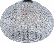 Maxim 39875BCPS Glimmer Plated Silver 15  Flush Lighting