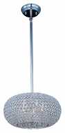 Maxim 39878BCPS Glimmer 15 Inch Diameter Plated Silver Medium Crystal Hanging Light