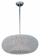 Maxim 39879BCPS Glimmer Plated Silver 24 Inch Diameter Crystal Lighting Pendant - Large