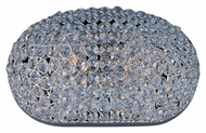 Maxim 39881BCPS Glimmer Plated Silver 12 Inch Wide Crystal Wall Sconce Lighting