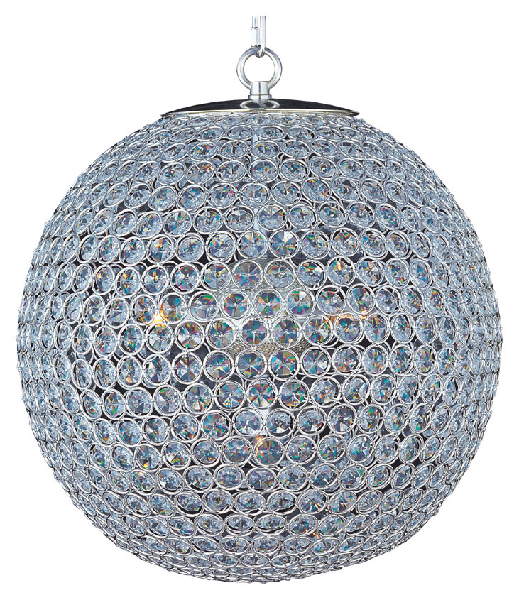 5fa5053968d Maxim 39886BCPS Glimmer Small 16 Inch Diameter Plated Silver Ball Crystal Ceiling  Light Pendant - MAX-39886BCPS