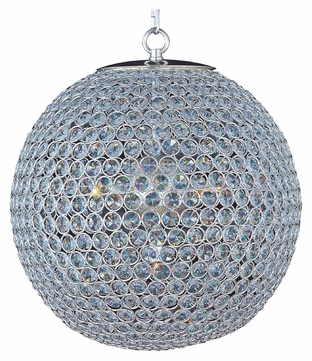 Maxim 39886BCPS Glimmer Small 16 Inch Diameter Plated Silver Ball Crystal Ceiling Light Pendant