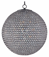 Maxim 39887BCBZ Glimmer Medium 24 Inch Diameter Bronze Finish Ball Crystal Drop Lighting
