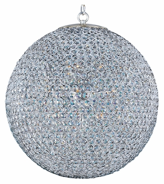 Maxim 39887BCPS Glimmer Ball 24 Inch Diameter Medium Plated Silver Drop Ceiling Lighting - 12 Lamps