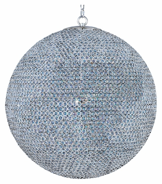 Maxim 39888BCPS Glimmer Plated Silver Ball 39 Inch Diameter Large Crystal Pendant Hanging Light