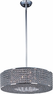 Maxim 39895BCPS Glimmer Plated Silver Drum Pendant Lamp