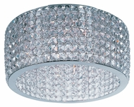Maxim 39930BCPC Vision 9 Lamp Beveled Crystal 17 Inch Diameter Flush Mount Lighting
