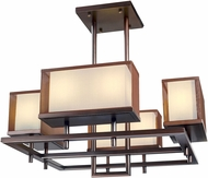 Maxim 43446CSOI Hennesy Modern Oil Rubbed Bronze LED 42  Chandelier Lamp