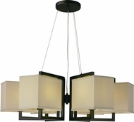 Maxim 43556LNDBZ Baldwin Modern Dark Bronze LED Chandelier Light
