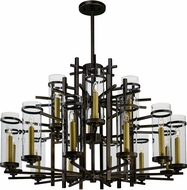 Maxim 43749CLGB Midtown Modern Gold Bronze LED Hanging Chandelier