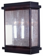 Maxim 4650CDBU Cubes Burnished 12  Wide Exterior Wall Lighting Sconce