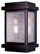 Maxim 4651CDBU Cubes Burnished 11  Tall Outdoor Wall Sconce Lighting