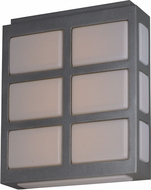 Maxim 53592WTMS Packs Contemporary Metallic Silver LED Outdoor Lighting Sconce
