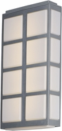 Maxim 53594WTMS Packs Contemporary Metallic Silver LED Outdoor Wall Sconce Lighting