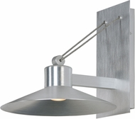Maxim 54365FTAL Civic Contemporary Brushed Aluminum Exterior 14  Wall Sconce Lighting