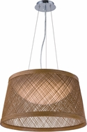 Maxim 54372NA Bahama Modern Natural LED 16  Hanging Light Fixture