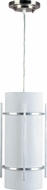 Maxim 55213WTBM Luna LED Contemporary Brushed Metal Outdoor Pendant Light Fixture