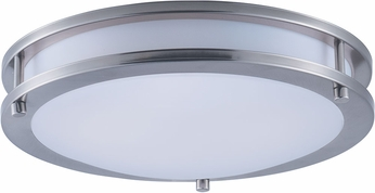 Maxim 55542WTSN Linear Contemporary Satin Nickel LED 12  Flush Mount Light Fixture