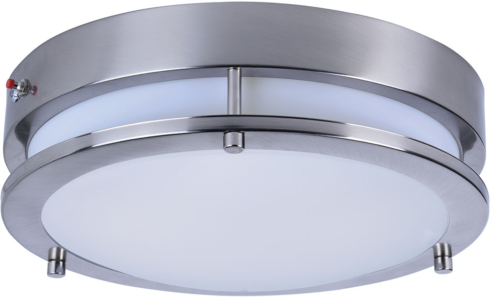 Maxim 55546WTSN Linear Modern Satin Nickel LED Flush Mount