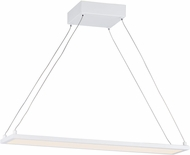 Maxim 57842WTWT Wafer Contemporary White LED 24  Kitchen Island Lighting