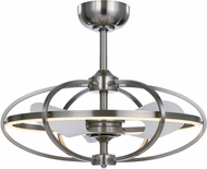 Maxim 60002SN Corona Contemporary Satin Nickel LED Ceiling Fan
