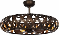 Maxim 60010BZGTGLD Weave Modern Bronze Gilt / Gold LED Home Ceiling Fan