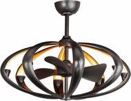 Maxim 61009BZGLD Ambience Contemporary Bronze / Gold LED Ceiling Fan