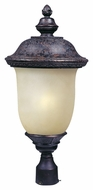 Maxim 85520MOOB Carriage House EE Traditional Oriental Bronze 12.5  Wide Exterior Post Light