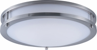 Maxim 85553WTSN Linear EE Modern Satin Nickel Fluorescent 14  Flush Lighting