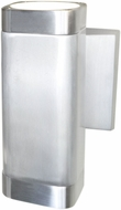 Maxim 86109AL Lightray Modern Brushed Aluminum Exterior 7  Wall Sconce
