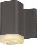 Maxim 86131ABZ Lightray Contemporary Architectural Bronze Outdoor 5  Wall Sconce Light