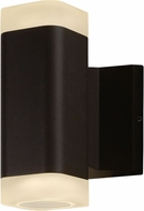 Maxim 86132ABZ Lightray Contemporary Architectural Bronze LED Exterior Lighting Wall Sconce