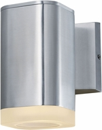 Maxim 86134AL Lightray Modern Brushed Aluminum Outdoor 5  Wall Light Sconce