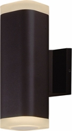Maxim 86135ABZ Lightray Contemporary Architectural Bronze LED Exterior Wall Light Sconce