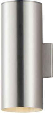 Maxim 86403AL Outpost Contemporary Brushed Aluminum LED Exterior 15 Wall Light Sconce