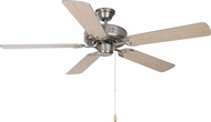 Maxim 89905SNWP Basic-Max Satin Nickel / Walnut / Pecan Home Ceiling Fan