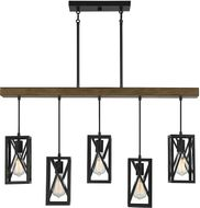 Meridian M10090WB Wood Kitchen Island Light
