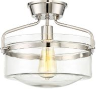 Meridian M60011PN Contemporary Polished Nickel Ceiling Lighting Fixture