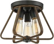 Meridian M60026WWGC Contemporary Weathered Wood Ceiling Light Fixture