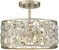 Meridian M60033SG Silver Gold Flush Ceiling Light Fixture