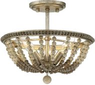Meridian M60035BSS Burnished Silver Flush Mount Ceiling Light Fixture