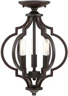 Meridian M60055ORB Oil Rubbed Bronze Convertible Ceiling Lighting Fixture