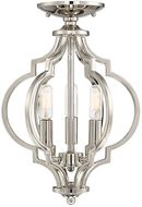 Meridian M60055PN Polished Nickel Convertible Ceiling Light Fixture
