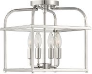 Meridian M60061PN Polished Nickel Ceiling Light Fixture