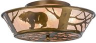 Meyda Tiffany 10011 Grizzly Bear on the Loose Rustic Antique Copper Mini Ceiling Lighting