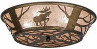 Meyda Tiffany 10015 Northwoods Moose on the Loose Rustic Antique Copper Ceiling Lighting Fixture