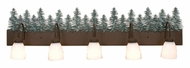 Meyda Tiffany 101961 Tall Pines Rustic 5 Lamp 48 Inch Wide Wall Light Fixture