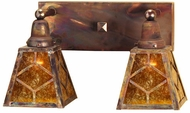 Meyda Tiffany 102168 Amber Mica Diamond Mission 10  Tall Bathroom Lighting