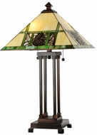 Meyda Tiffany 103380 Pinecone Ridge Tiffany Antique Table Lamp